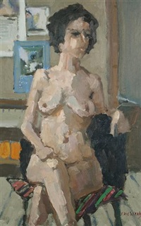 life study in my studio (+ 2 others; 3 studies) by eric ward