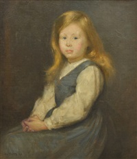 portrait of miss evelyn grace watson by tom roberts