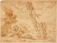 jacob's ladder by bernard (le petit bernard) salomon
