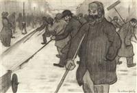 les ramasseurs de neige by henri evenepoel