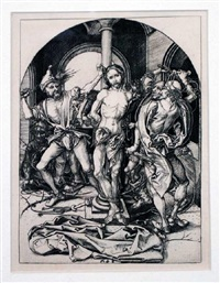 flagellation of christ by martin schongauer