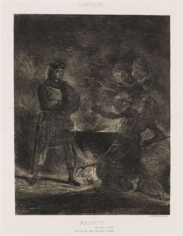 macbeth consultant les sorcières by eugène delacroix
