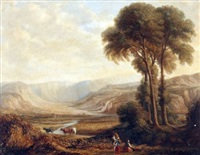 a romantic landscape by copley fielding