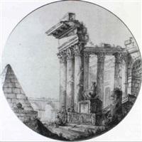 personnages dans des ruines by françois boucher the younger