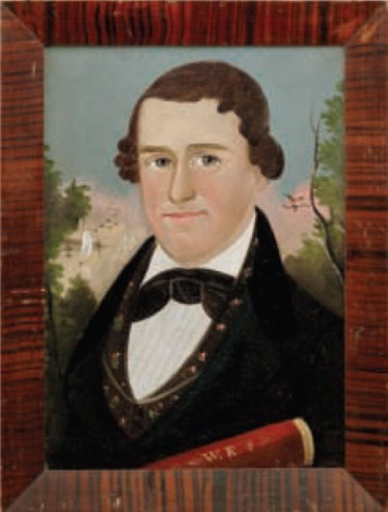 portrait of a sea captain by american school prior hamblen 19
