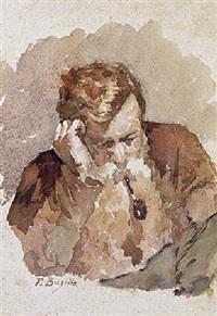 l'homme à la pipe by frédéric bazille