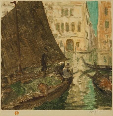 venezianisches motiv by t frantisek simon
