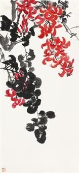 秋葵 镜片 设色纸本 by tang yun
