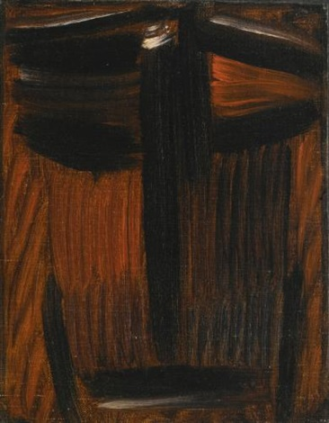 meditation: schwarz - oranges leuchten (meditation: black- orange glowing) by alexej jawlensky