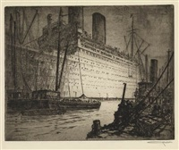 at quarantine (+ cargo carriers; 2 works) by otto august kuhler