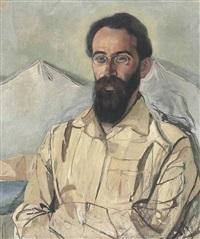 portrait of fridrikh krimmer (1888-1963) by aleksandr yakovlevich golovin