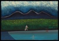 baño con montaña by alejandro arango