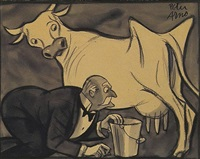can papa milk the cow? (illus.) by peter arno