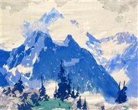 lunette peak, mt. assiniboine by barbara (barleigh) leighton