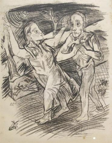 femme conduisant un homme by oskar kokoschka