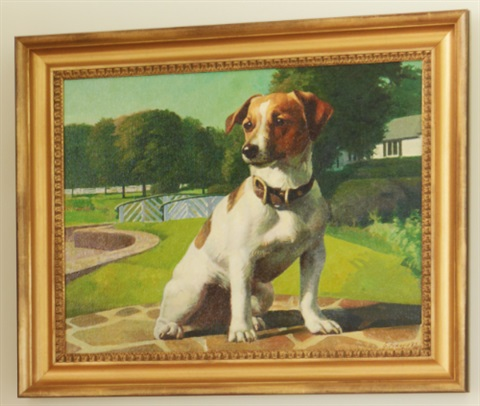 a jack russell at spring hill farm (squeal) by galina v. perova