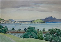 auckland harbor from parnell by peggy spicer