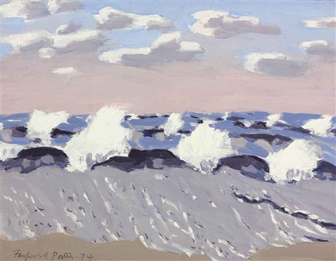 surf on windy day by fairfield porter