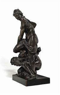 virtue triumphant over vice (after giambologna) by massimiliano (benzi) soldani