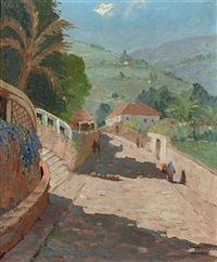 funchal madeira, route de st. crux, madeira (+ 2 others; 3 works) by johan van der bilt