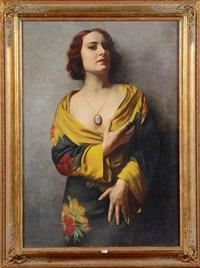jeune femme habillée à la japonaise by george owen wynne apperley