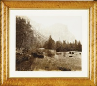 el capitan from rocky ford (3,300 feet high), yosemite valley, california by eadweard muybridge