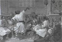danseur et musiciens by eugène courboin