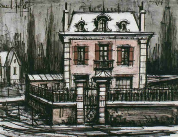 La maison rose le pavillon a maisse by bernard buffet on - Eugenie les bains la maison rose ...