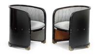 fauteuils nr. 720 (pair) by josef hoffmann
