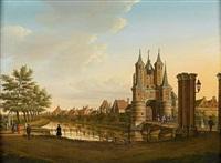 the amsterdamse poort, haarlem by paulus constantijn la (la fargue) fargue