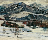 winterlandschaft by kurt conrad loew