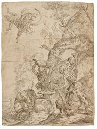 la fucina di vulcano (2 works) by giovanni pietro possenti