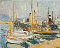 bateaux à saint-tropez by jean puy