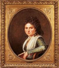 portrait de mademoiselle de richemont (?) by henri-pierre danloux