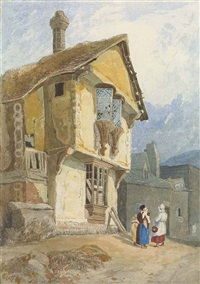 the old college house, conway by john sell cotman