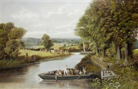 ferry on the severn (+ crossing the stream; pair) by edward priestley