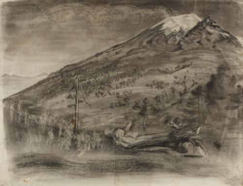 paisaje con volcán by dr atl gerardo murillo