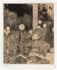 la chanteuse (from quinze lithographies) by edgar degas