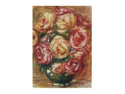 vase de roses by pierre auguste renoir