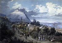 kahlenbergerdorf mit dem leopoldsberg by peter hartmann