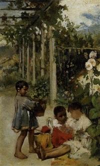 niños jugando by jose acebedo
