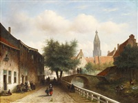 entrance to enkhuizen from the seaside by pieter gerardus vertin