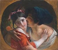 the kiss by feodor antonovich moller
