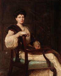 portrait of a lady, traditionally identified as mrs. wallace by hugh goldwin riviere