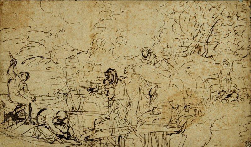 la fuite en egypte by jean baptiste corneille