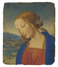madonna (after perugino) by carl gottlieb peschel