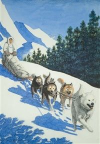 alaskan mushing by fred machetanz