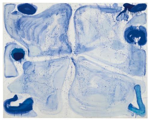 blue cross by sam francis
