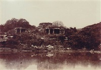 hooblee. ruined temple and tank, pl.liii by william henry pigou