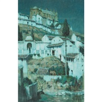 moonlight, santa maria, anteguera, spain by a. moulton foweraker